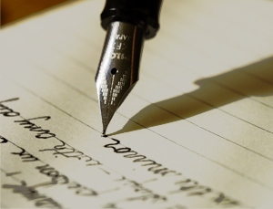 writing on a piece of paper