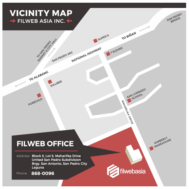 FilWeb Asia Vicinity Map