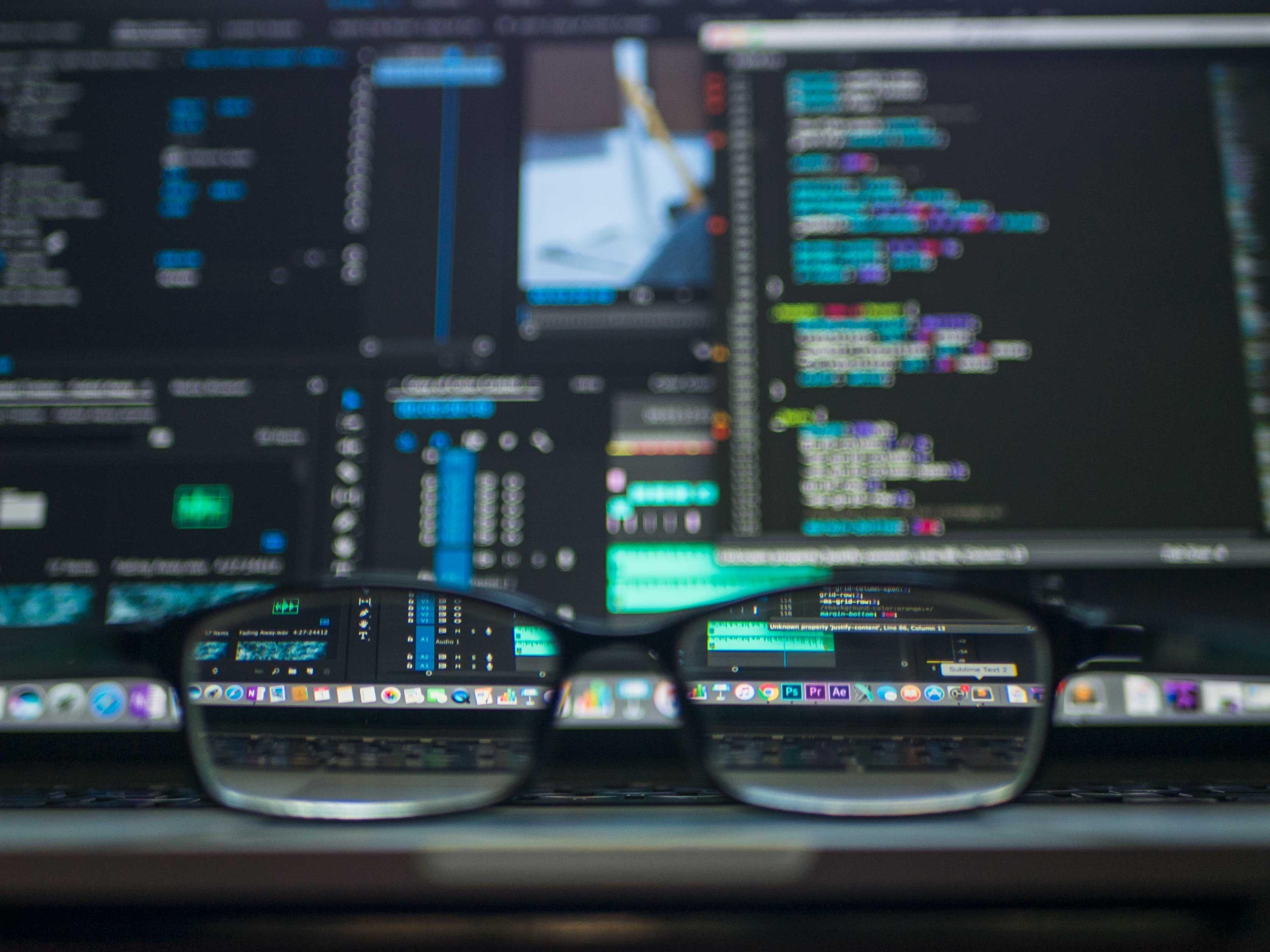 business website data viewed on a computer