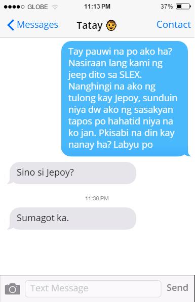 Filipino dad: text message