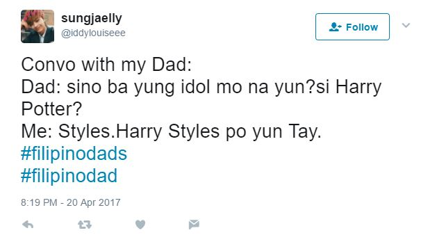 Filipino dad: twitter convo