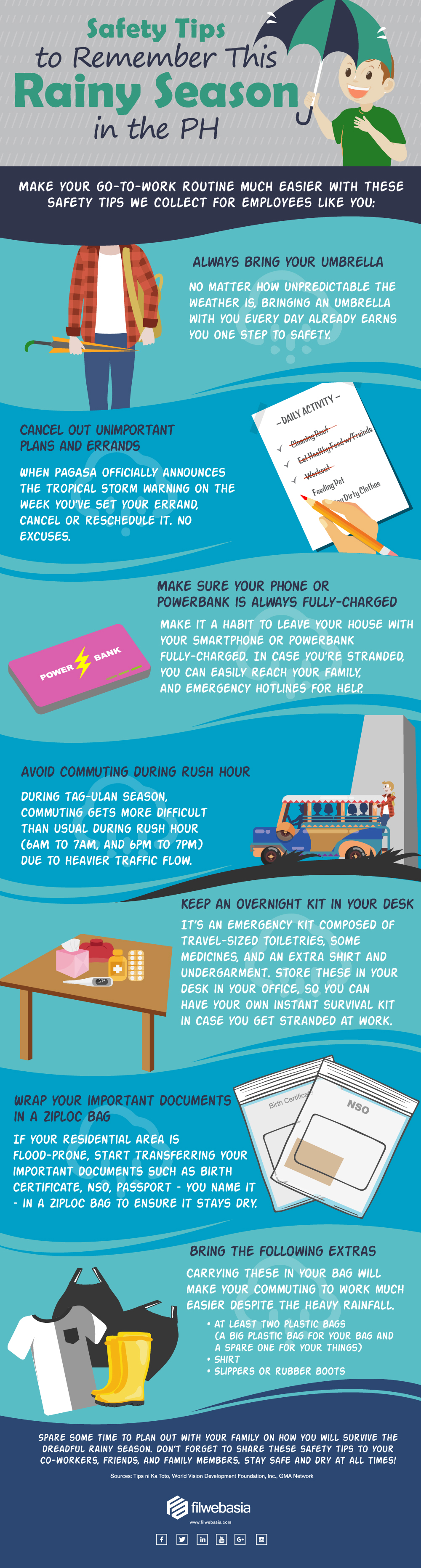 tag-ulan safety tips for employees: infographic