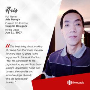 FilWeb Asia's longtime employees - Aris