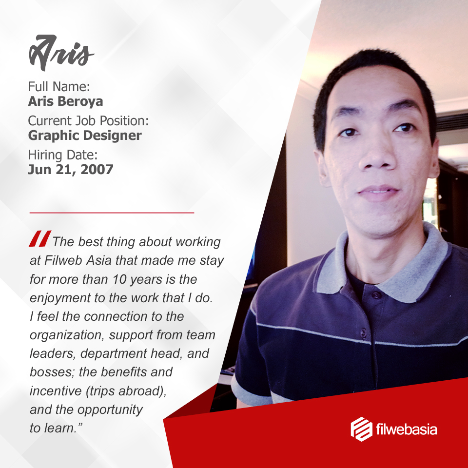 FilWeb Asia's longtime employees - Aris