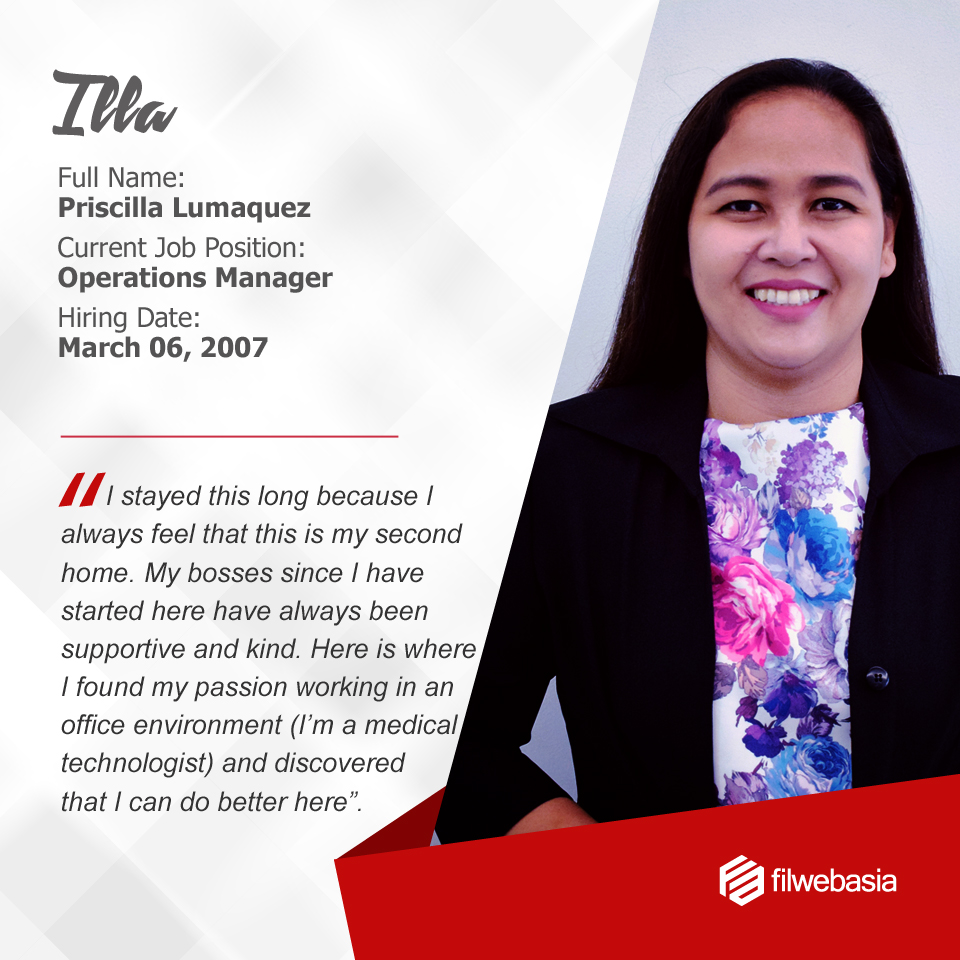 FilWeb Asia's longtime employees - Illa