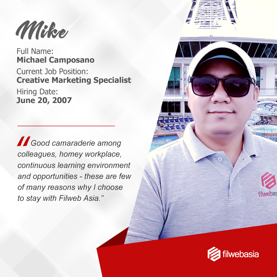 FilWeb Asia's longtime employees - Mike