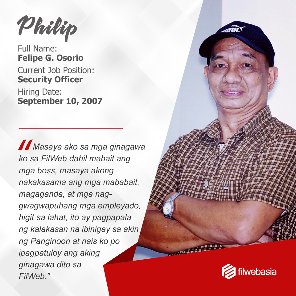 FilWeb Asia's longtime employees - Philip