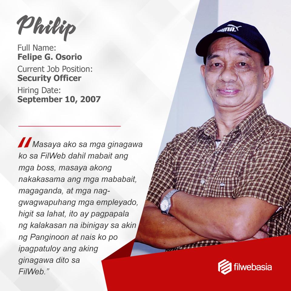 FilWeb Asia's longtime employees - Philip