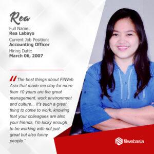 FilWeb Asia's longtime employees - Rea