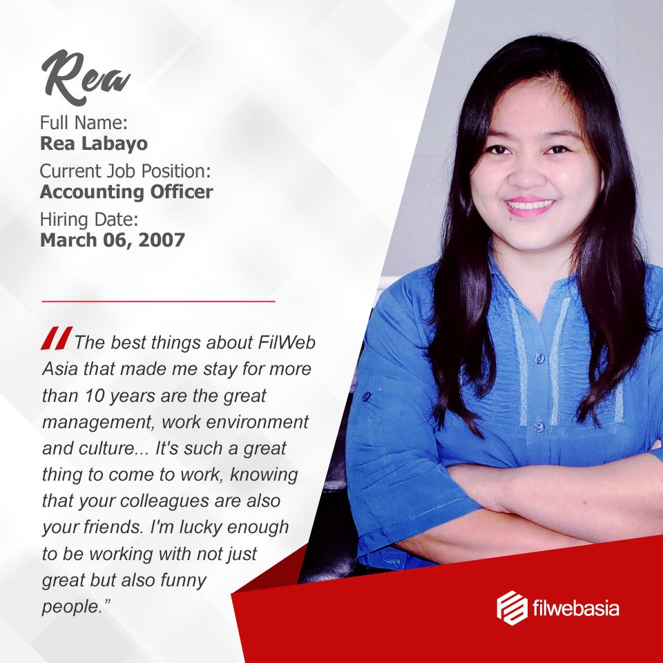 FilWeb Asia's longtime employees - Rea
