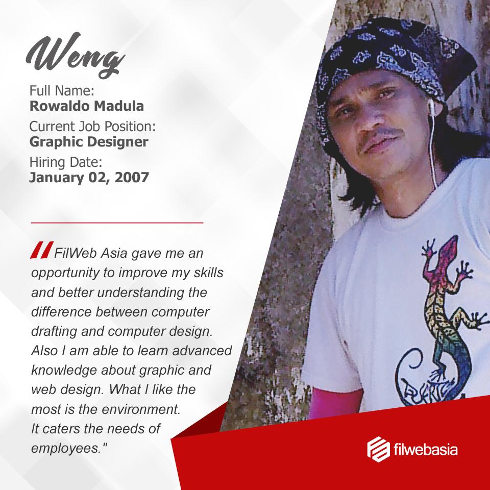 FilWeb Asia's longtime employees - Weng
