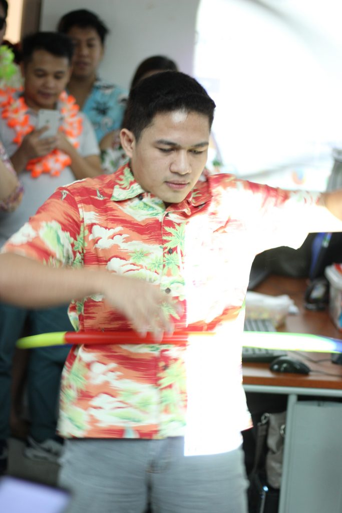 FilWeb Asia - DCM's Vick Tancio twirls the hula hoop