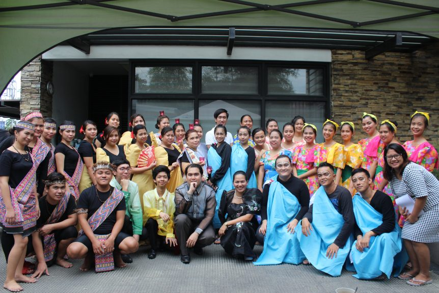FilWeb Asia's Career Development Department in their traditional costumes