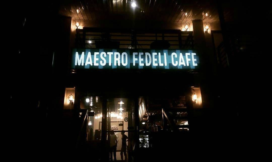 Maestro Fedeli Cafe at Night