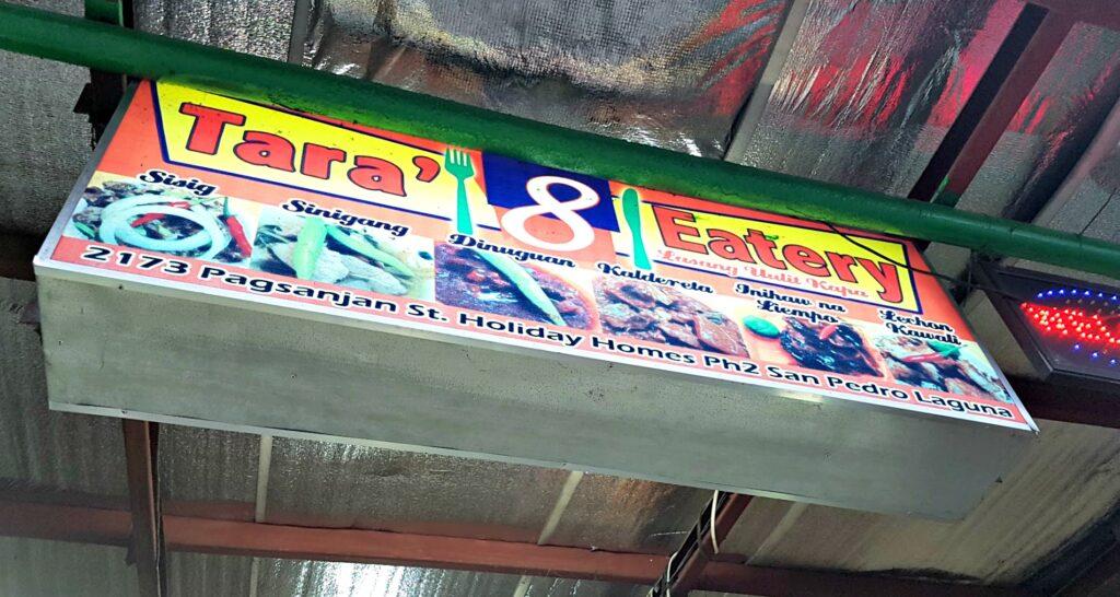 Tara' 8 Eatery Sign