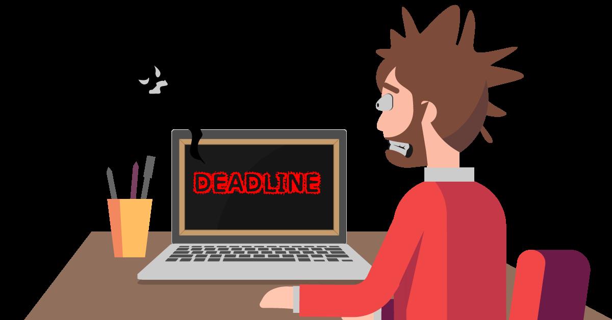katatakutang dinaranas ng mga empleyado reaching a project deadline