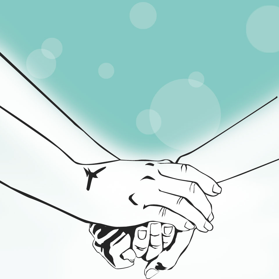Image of hands holding together
