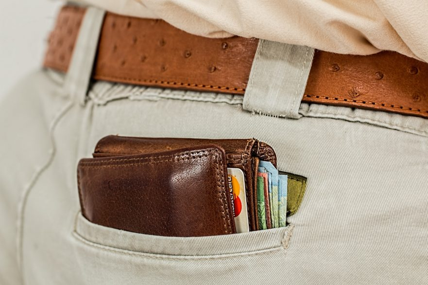 wallet inside a pocket