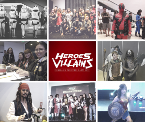 FilWeb Asia Heroes and Villains Christmas Party 2017