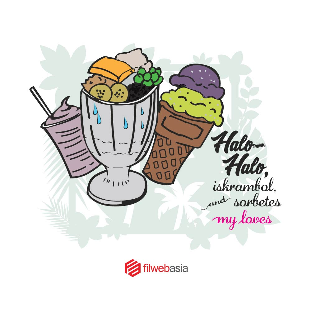 summer na naman at masarap kumain ng halohalo at sorbetes