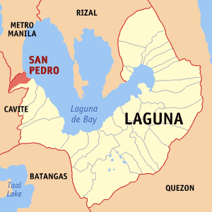 Map of Laguna - perks of working in laguna